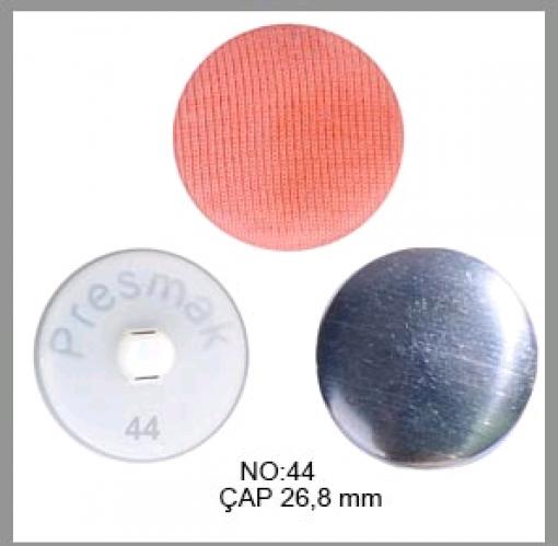 Заготовка для обтяжки пуговиц на пластиковой ножке №44 28мм цв.белый(в упак.250шт)
