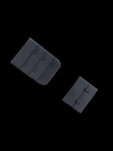 Бельевые застежки на ткани 3х2 38мм цв.серый(в упак.100шт)