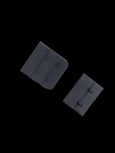 Бельевые застежки на ткани 2х2 40мм цв.серый(в упак.100шт)