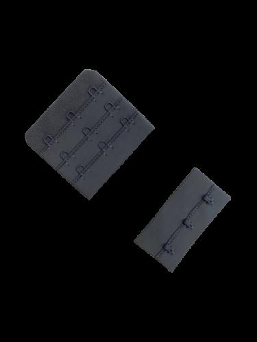 Бельевые застежки на ткани 3х3 57мм цв.серый(в упак.100шт)