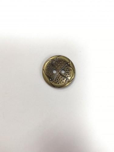 10 Пуговицы литые пришивные цв.антик