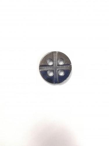 11 Пуговицы литые пришивные цв.черный никель