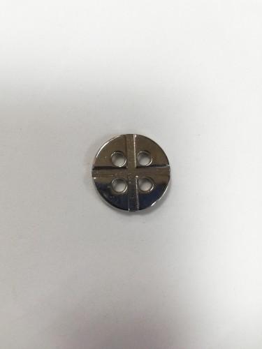 11 Пуговицы литые пришивные цв.никель