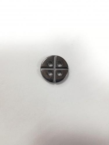 12 Пуговицы литые пришивные цв.черный никель
