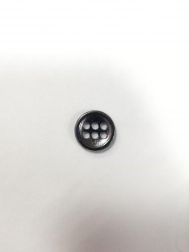 15 Пуговицы литые пришивные цв.черный никель