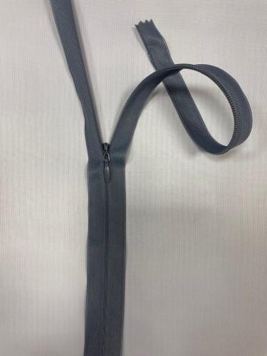 195С Молния потайная Т3 60см цв.серый(в упак.100шт) Китай