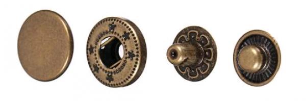 Кнопка нержавеющая Alfa 15мм цв.антик(в упак.720шт)