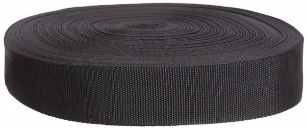 322 Стропа текстильная 50мм цв.черный(в рул.100м)