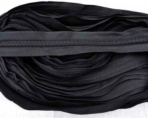 322 Молния спираль Т7 рулонная цв.черный(в рул.200м)