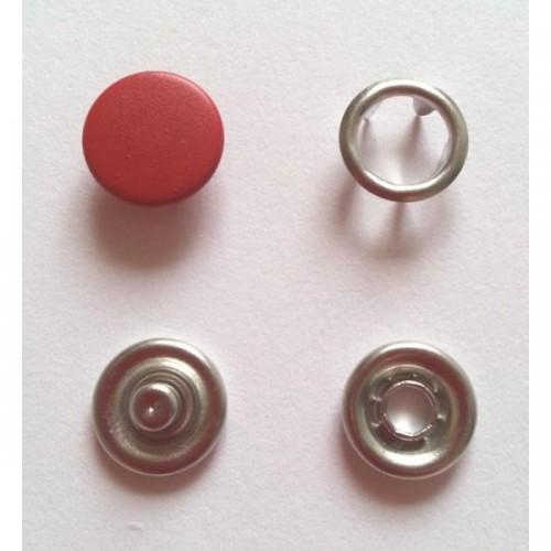 148 Кнопка нержавеющая трикотажная закрытая 09,5мм цв.красный(в упак.1440шт)