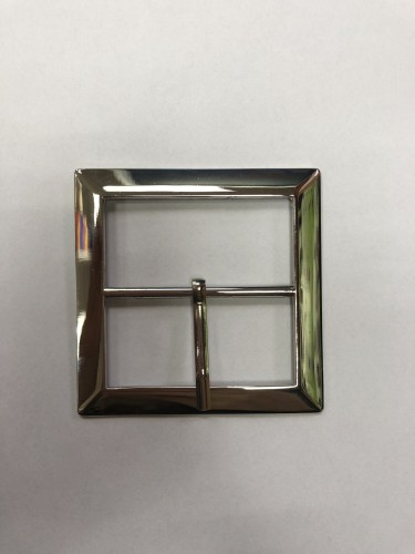 3096 Пряжка металлическая 5см цв.никель(в упак.100шт)