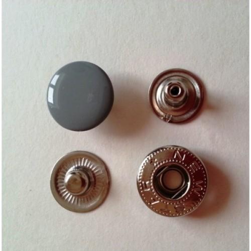 Кнопка стальная VT-2 9,5мм цв.серый(в упак.1440шт)