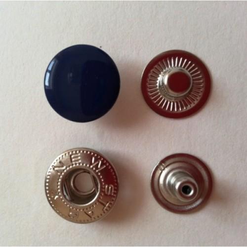 Кнопка стальная Alfa 15мм цв.т.синий(в упак.720шт)