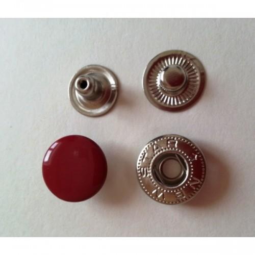Кнопка стальная Alfa 15мм цв.красный(в упак.720шт)