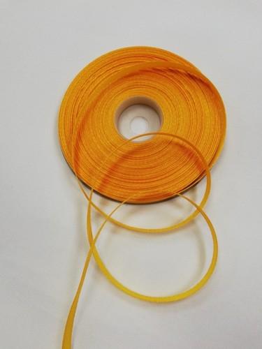 112(3022) Атласная лента 6мм цв.т.желтый (в рул.32,9м)