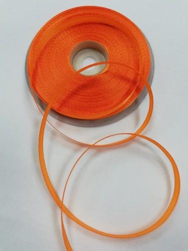 157(3020) Атласная лента 6мм цв.оранжевый(в рул.32,9м)