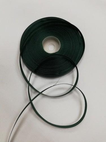 272(3047) Атласная лента 6мм цв.т.зеленый (в рул.32,9м)
