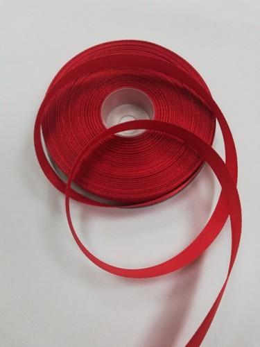 162(3096) Атласная лента 12мм цв.красный(в рул.33м)