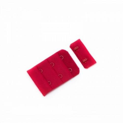 Бельевые застежки на ткани 3х2 38мм цв.красный(в упак.100шт)