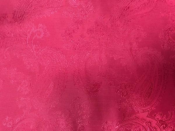 7 Ткань подкладочная жаккардовая огурчики 210Т 150см цв.т.красный(в рул.100м)