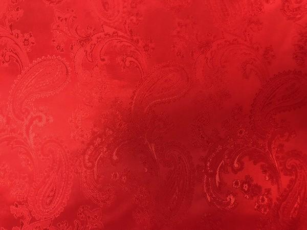 9 Ткань подкладочная жаккардовая огурчики 210Т 150см цв.красный(в рул.100м)