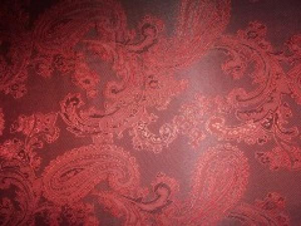 10 Ткань подкладочная жаккардовая огурчики 210Т 150см цв.бордовый(в рул.100м)