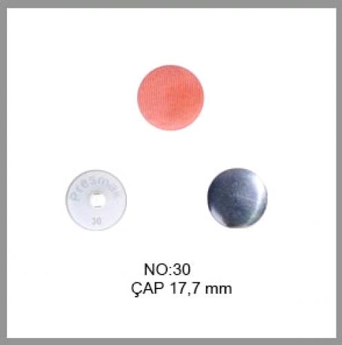 Заготовка для обтяжки пуговиц на пластиковой ножке №30 19мм цв.белый(в упак.500шт)