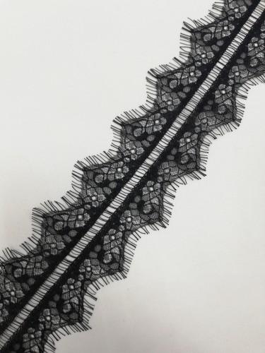 011А-V Кружево реснички шир.7см цв.черный(в упак.60м)