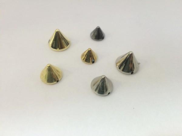 №14 Шипы пластиковые пришивные 8мм цв.золото(в упак.5000шт)