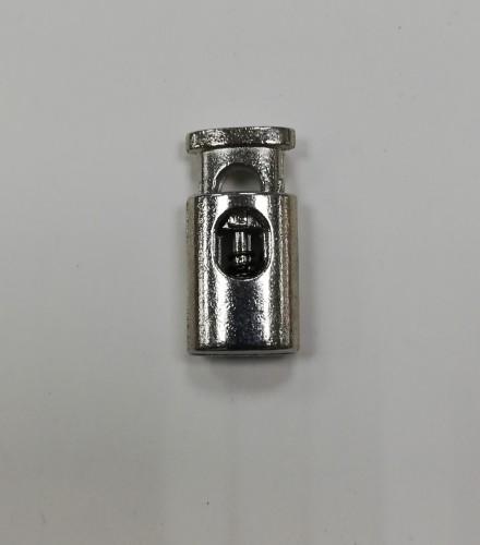 2 Фиксатор металлический декоративный двухдыроччный цв.никель(в упак.1000шт)