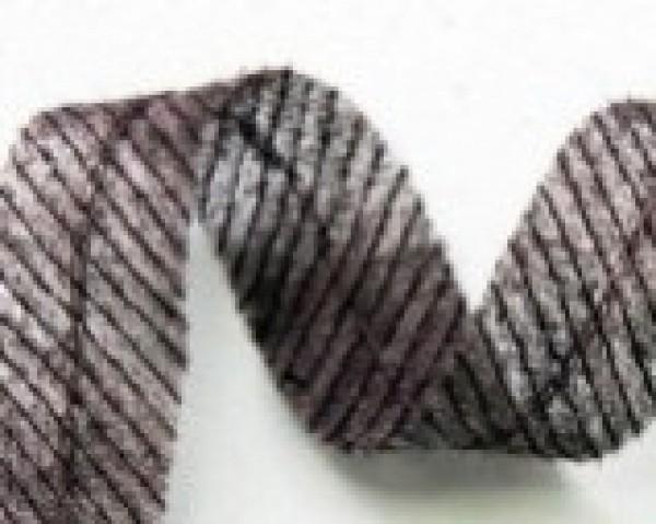 Лента нитепрошивная по косой со строчкой 12мм цв.серый(в рул.140м)