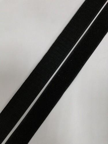 Липучка 025мм цв.черный(в рул.25м)