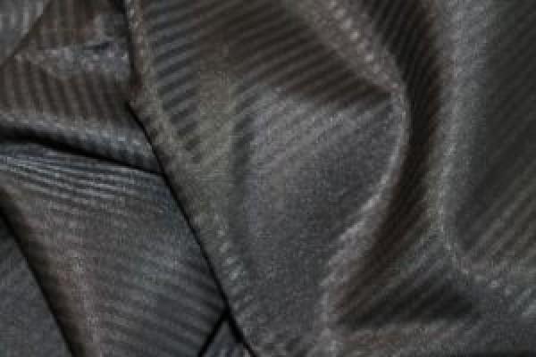 Карманная ткань полосатая 90г/м 80%ПЭ 20%Хлопок цв.черный(в рул.100м)