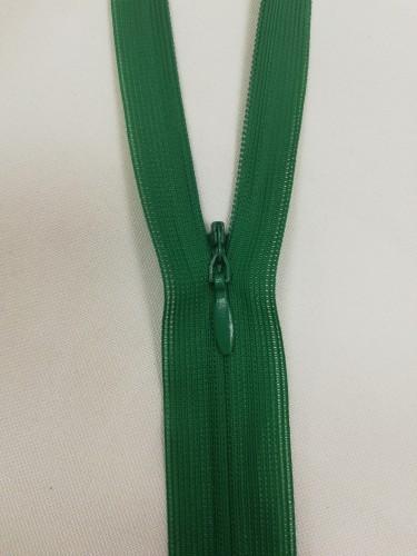 258 Молния потайная Т3 20см цв.ярко-зеленый(в упак.100шт)
