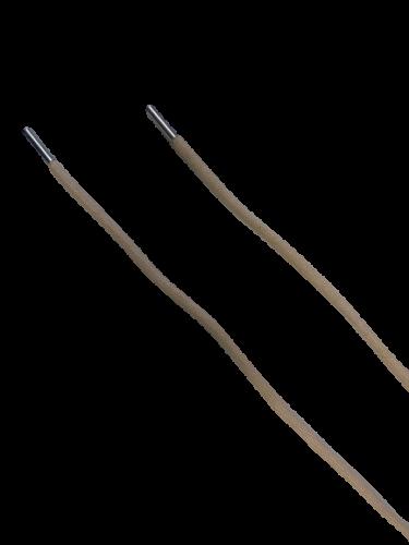 Шнур с наконечником 160см круглый 6мм цв.нюдовый(в упак.50шт)
