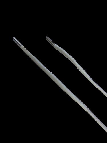 Шнур с наконечником 160см круглый 6мм цв.светло-серый(в упак.50шт)