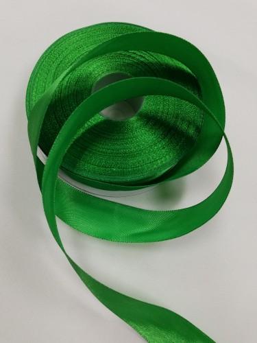 243 Атласная лента 25мм цв.зеленый(в рул.33м)