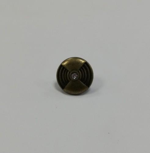 2 Джинсовые пуговицы литые 19мм цв.антик(в упак.100шт)