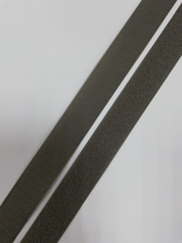 Липучка 025мм цв.серый(в рул.25м)