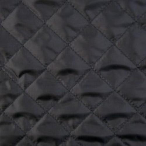 Стеганый шерстипон на нитке 10*10см 150г/м подклад 190Т 150см со спанбондом цв.черный(в рул.50м)