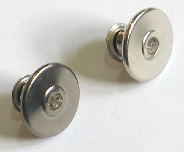 Джинсовые пуговицы нержавеющие 9712 17мм с кристальной стразиной цв.никель(в упак.1000шт)