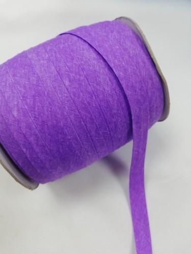 167 Косая бейка хлопковая 15мм цв.фиолетовый(в рул.132м)