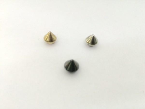 11206RR Шипы металлические на гвоздике 7мм цв.золото