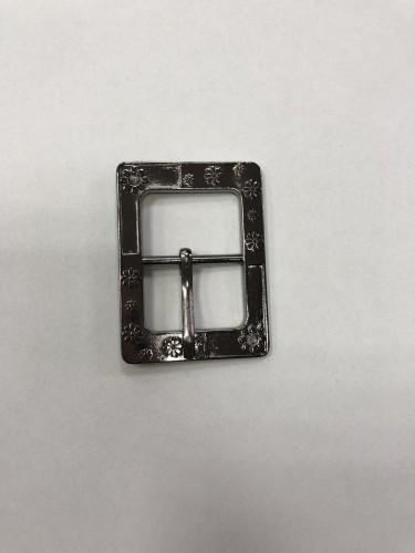 9076 Пряжка металлическая 2,5см цв.ч.никель(в упак.100шт)