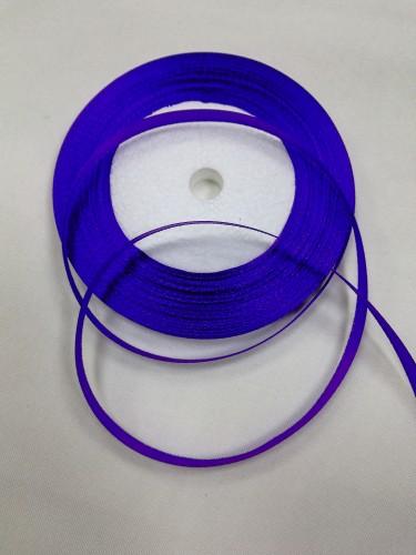 170 Атласная лента 6мм цв.фиолетовый(в рул.33м)