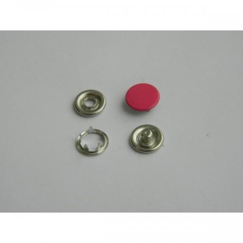 146 Кнопка нержавеющая трикотажная закрытая 09,5мм цв.малина(в упак.1440шт)
