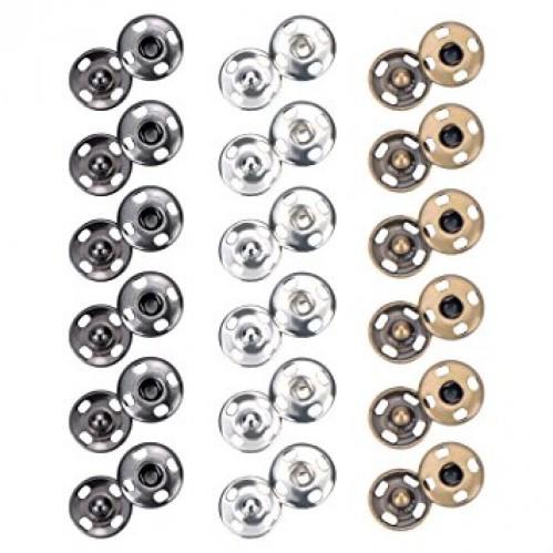 Кнопка пришивная нержавеющая 10мм цв.никель(в упак.1000шт)