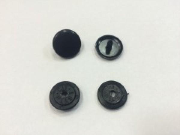 Кнопка пластиковая 13мм №322 цв.черный(в упак.1000шт)