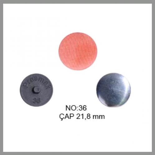Заготовка для обтяжки пуговиц на пластиковой ножке №36 23мм цв.черный(в упак.500шт)