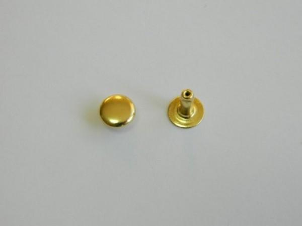 Хольнитен стальной 7*7мм цв.золото(в упак.2000шт)